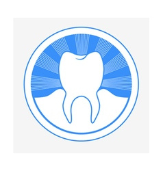 tooth round logo vector image