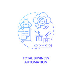 Total business automation concept icon vector