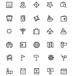 Tourism line icons 2 vector