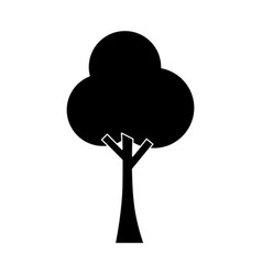 tree nature forest ecology pictogram vector image