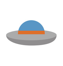 ufo flying isolated icon vector image