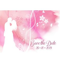 watercolour save date decorative invitation vector image