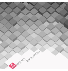 Abstract background with grey square blocks vector image