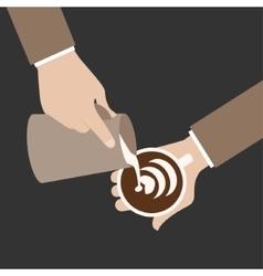 barista hand vector image