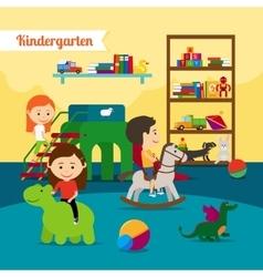 Children in Kindergarten vector image