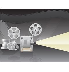 cinema projector 02 vector image vector image