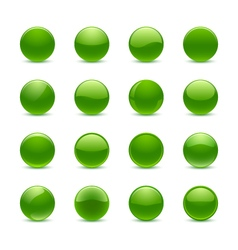 Green round buttons vector image vector image