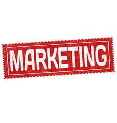 marketing grunge rubber stamp vector image