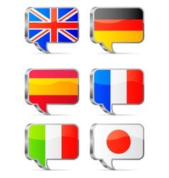 Speech bubbles flags vector image vector image