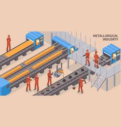 Steel industry isometric vector