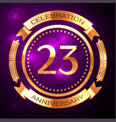 twenty three years anniversary celebration with vector image vector image