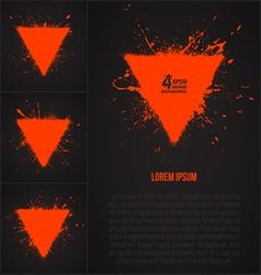 4 grunge backrounds vector image vector image