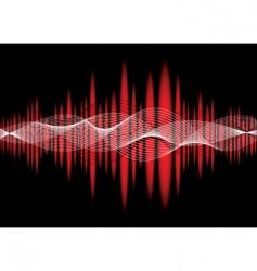 music equaliser wave red vector image