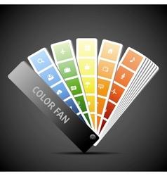 Color fan Background vector image