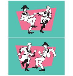 Country dancers design vector