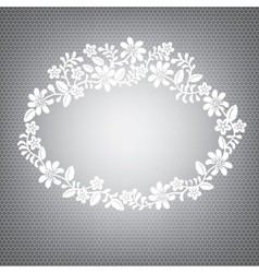 lace white frame vector image vector image