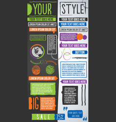 page publishing design elements sketch freestyle vector image