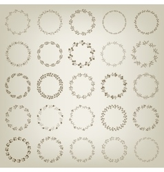 Set of hand-draw victory laurel wreaths for vector image vector image