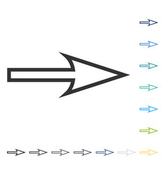 Sharp arrow right icon vector