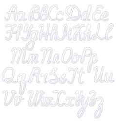Writing alphabet white vector image vector image