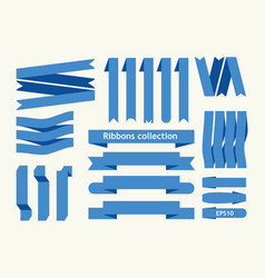 collection of ribbon signs vector image