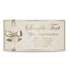 Gift Card Sertificate Coupon Invitation vector image