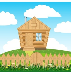 House on hill vector image vector image
