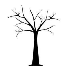 icon dry tree vector image vector image