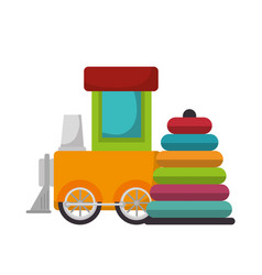 set kids toys icons vector image