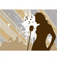 singer vector image vector image