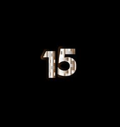 15 years anniversary celebration elegant black vector