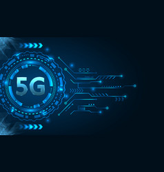 5g new wireless internet wi-fi connection hud vector image