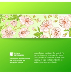 Abstract flower label vector image vector image