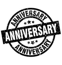 Anniversary round grunge black stamp vector