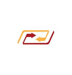 arrow business logo vector image