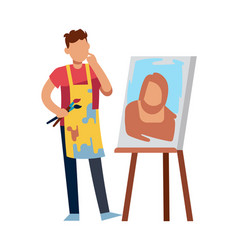 artist character drawing picture drawing man with vector image