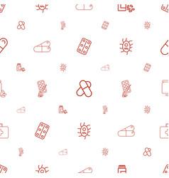 Aspirin icons pattern seamless white background vector