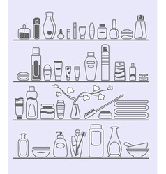 beauty and care elements vector image
