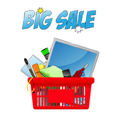 Big sale chopping card with objects vector