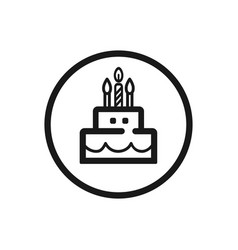 birthday line icon on a white background vector image