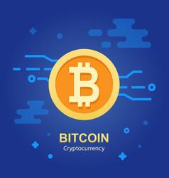 Bitcoin concept cryptocurrency logo sigh vector