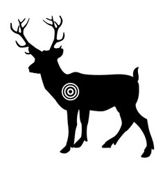 black silhouette deer gun shooting target and vector image