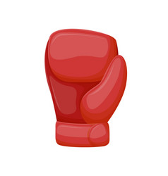 boxing glove accessory combating by hands vector image
