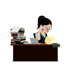 busy purchaser vector image