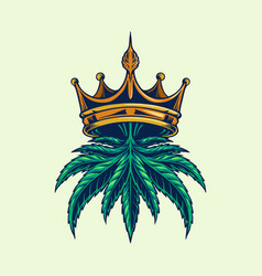 cannabis crown logo vector image