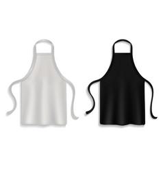 Chef apron realistic kitchen uniform black vector