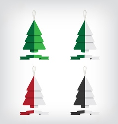 Christmas tree abstract vector image