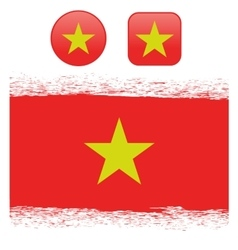 Colored Vietnam Flag vector