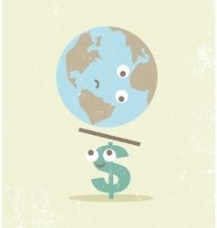 Crisis finance currency dollar balance vector