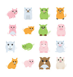 cute pigs drawings vector image